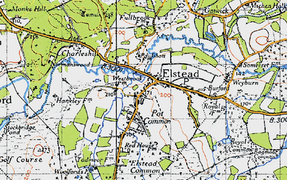 Old map of Elstead in 1940