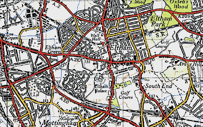 Old map of Eltham in 1946