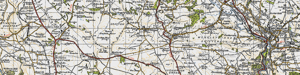 Old map of Elton in 1947