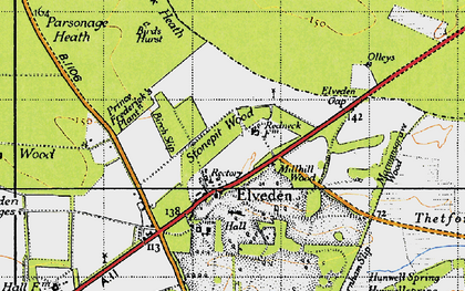 Old map of Westgouch Plantn in 1946