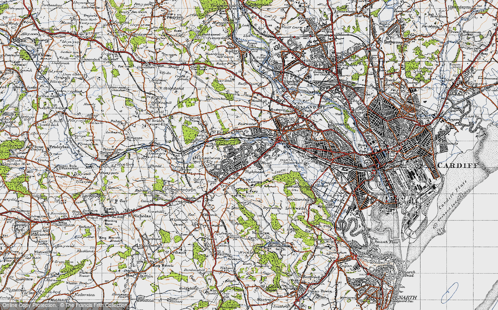 Old Map of Ely, 1947 in 1947