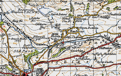 Old map of Embsay in 1947