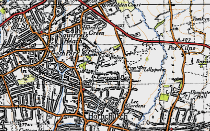 Old map of Lillyputts in 1946