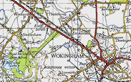 Old map of Woose Hill in 1940