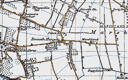 Old map of Titkill Br in 1946