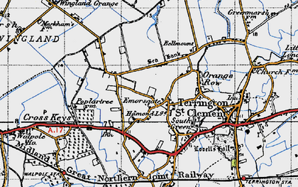 Old map of Wingland Grange in 1946