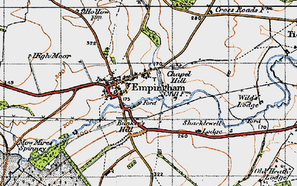 Old map of Empingham in 1946