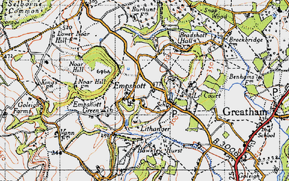 Old map of Le Court in 1940