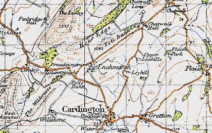 Old map of Yell Bank in 1947