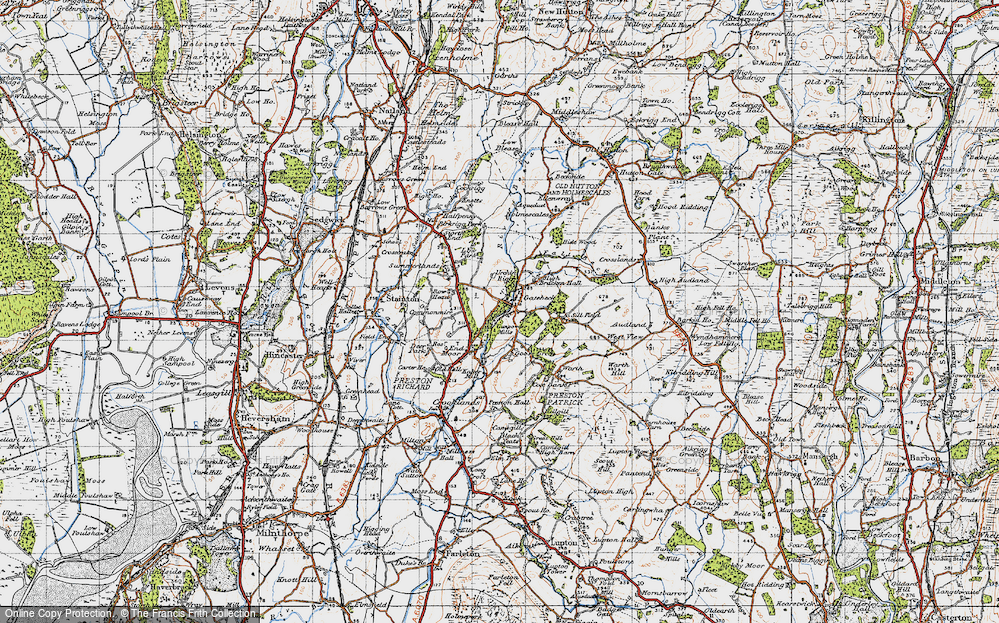 Old Map of Endmoor, 1947 in 1947