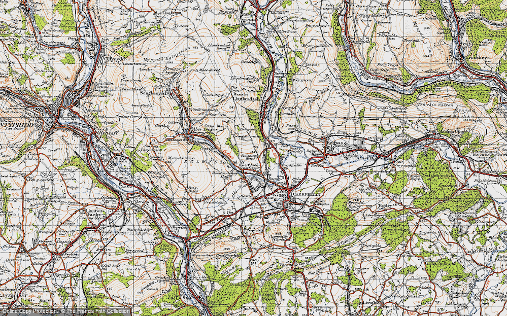 Old Map of Energlyn, 1947 in 1947