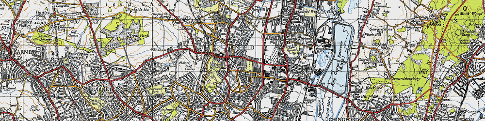 Old map of Enfield in 1946