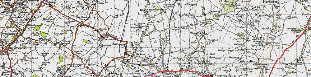 Old map of Acton Lodge in 1946