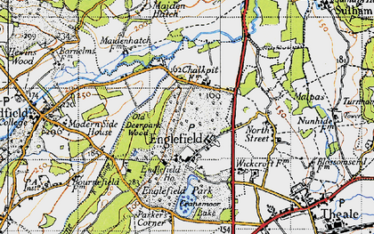 Old map of Englefield in 1945