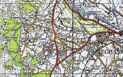 Old map of Englefield Green in 1940