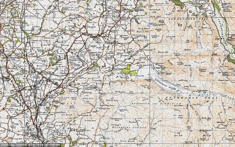 Old Map of Historic Map covering Lanefoot in 1947