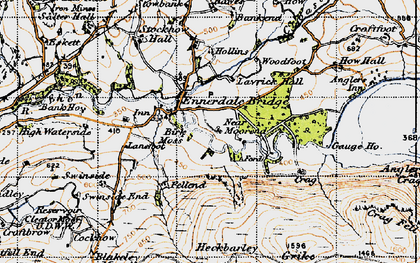 Old map of Lankrigg Moss in 1947