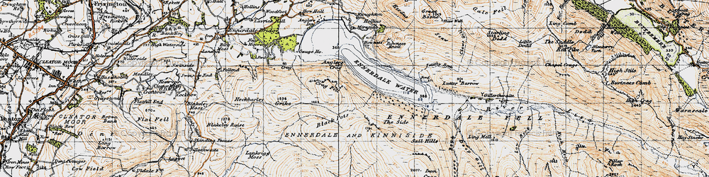 Old map of Whoap in 1947