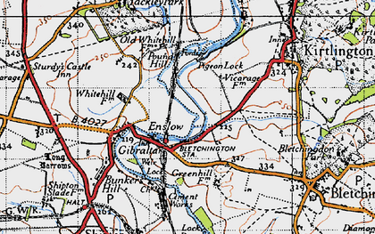 Old map of Whitehill Earth Station in 1946