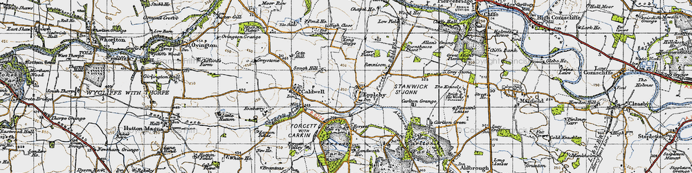 Old map of Eppleby in 1947
