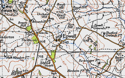 Old map of Yarn Hill in 1946