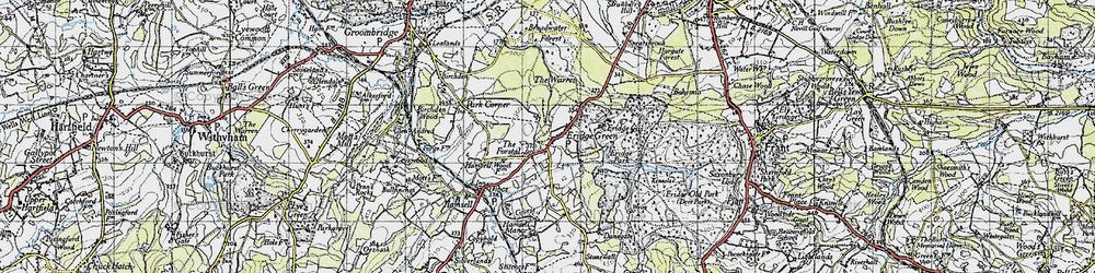 Old map of Eridge Green in 1946