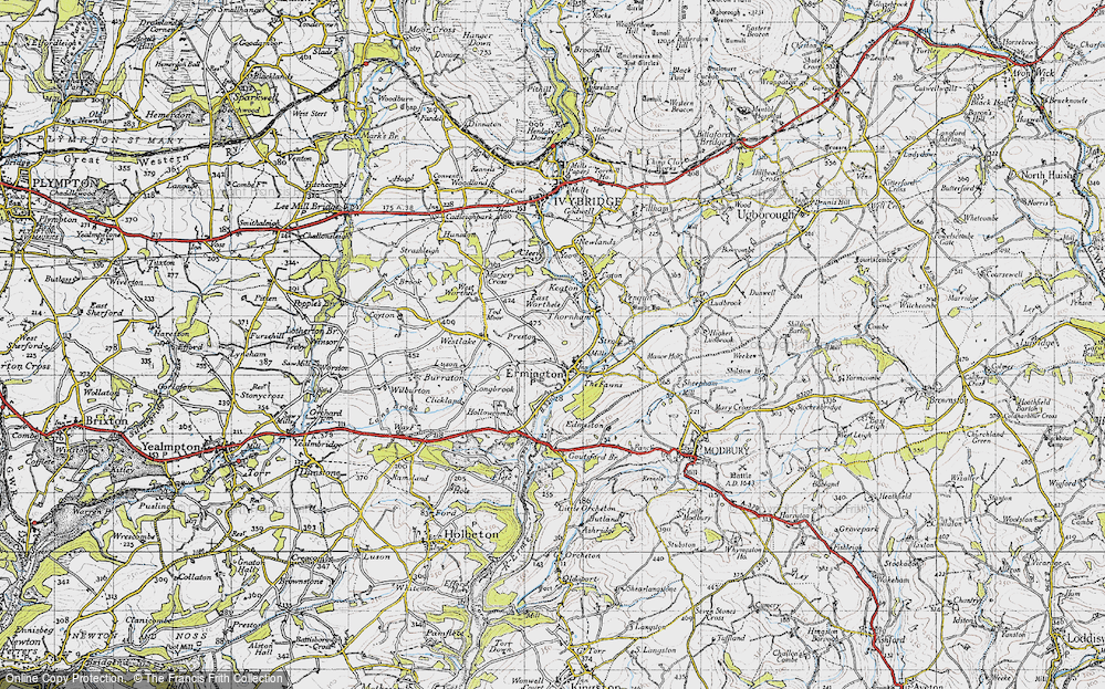 Old Map of Ermington, 1946 in 1946