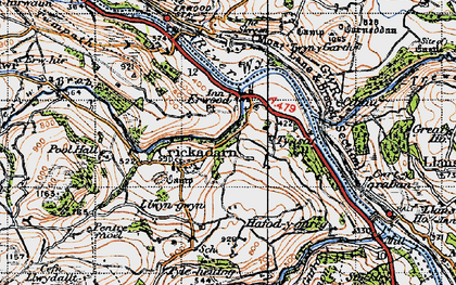 Old map of Erwood in 1947
