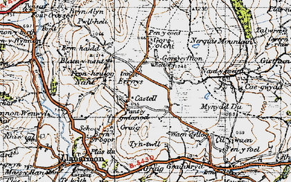 Old map of Eryrys in 1947