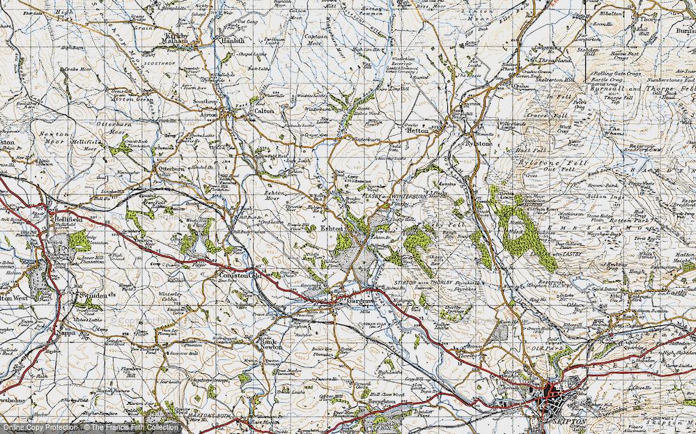Old Map of Eshton, 1947 in 1947