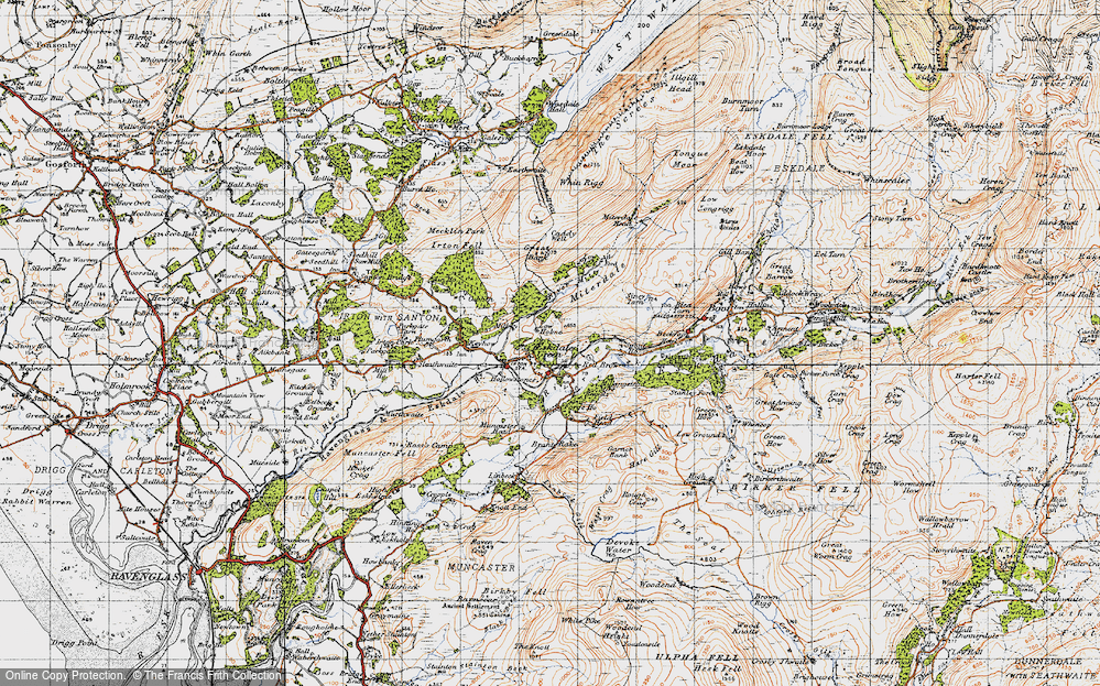 Old Map of Historic Map covering Linbeck in 1947