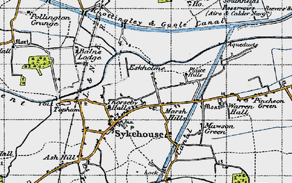 Old map of Aire and Calder Navigation in 1947