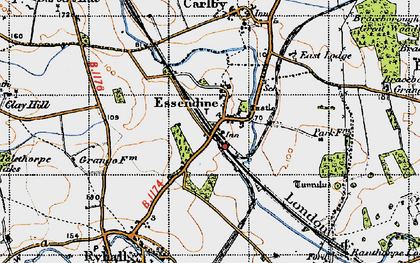 Old map of Tolethorpe Oaks in 1946
