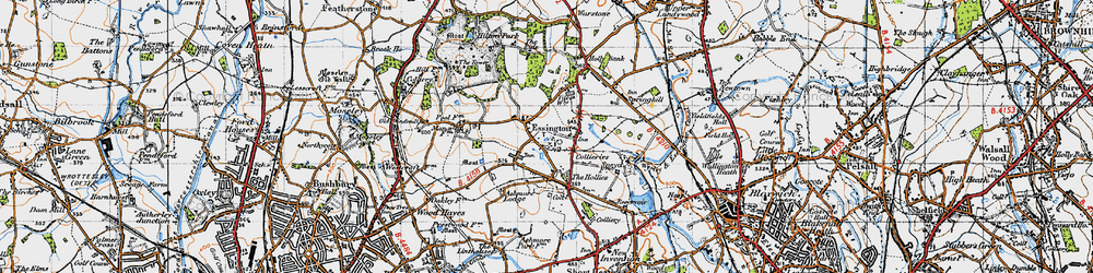 Old map of Essington in 1946