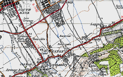 Old map of Eston in 1947