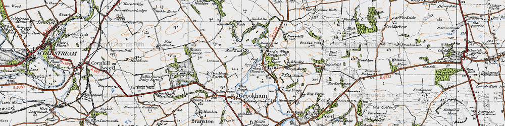 Old map of Letham Hill Haugh in 1947