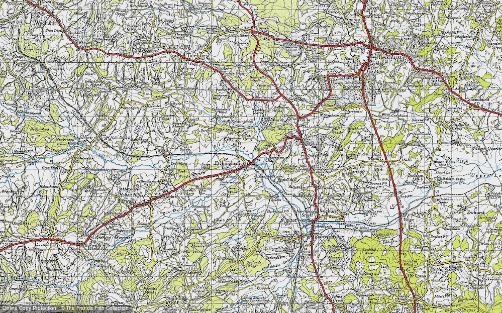 Old Map of Etchingham, 1940 in 1940