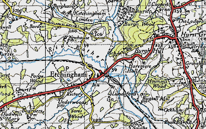 Old map of Etchingham in 1940