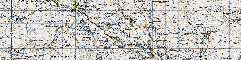 Old map of White Mere in 1947