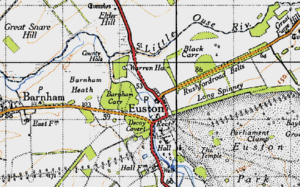 Old map of Wrottesley Wood in 1946