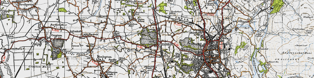 Old map of Woodcock Fold in 1947