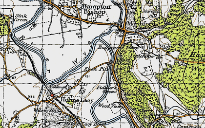 Old map of Bagpiper's Tump in 1947