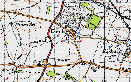 Old map of Astwick Village in 1946