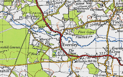 Old map of Wheatlands Manor in 1940