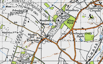 Old map of Everton in 1946