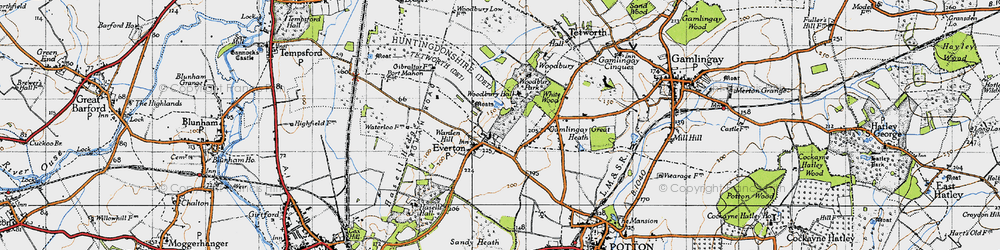 Old map of Woodbury Hall in 1946