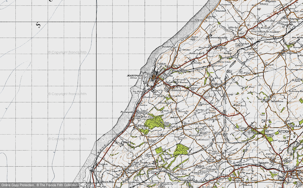 Old Map of Historic Map covering Balnakeil Forge in 1947