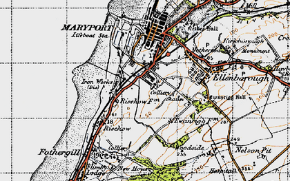 Old map of Balnakeil Forge in 1947