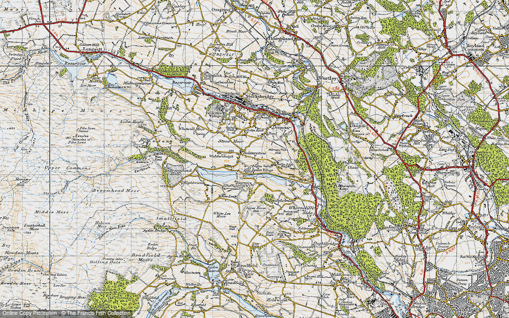 Old Map of Ewden Village, 1947 in 1947