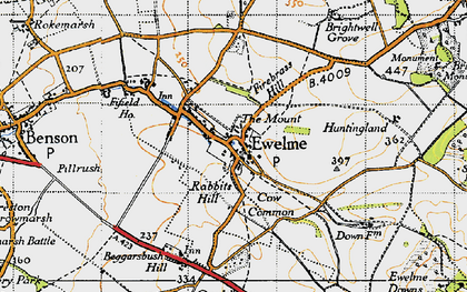 Old map of Ewelme in 1947